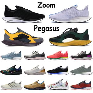 Zoom Mens scarpe da corsa Pegasus Sail Midnight Navy Triple Nero Phantom Red Orbit Grey Volt floreale bianco annerito Giada Donne Sneakers