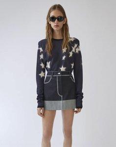 Broken Code special Nordic style acn denim skirt * contrast color denim skirt