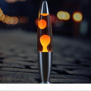 Argent classique à base Lava Lamp usine vente directe 13 pouces lampe cire fond métallique créatif lampe à lave méduse décorative