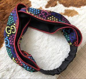 Hot Designer Silk Turban Bandeaux de haute qualité Femmes Marque Lettre Imprimé Bandeaux Marque bandes colorées Cheveux Turban pour les filles des femmes