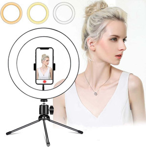 Ring Lamp Video Light Dimmable LED Selfie Ring Light USB Photography Light With Tripod For Phone Makeup Youtube Tik tok