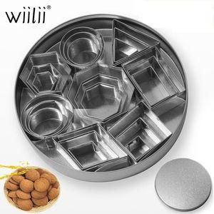 24pcs Set Stainless Steel Geometric Shape 3D Cookie Cutter DIY Fondant Decorating Molds Mousse Cake Moulds Kitchen Baking Tools T200523