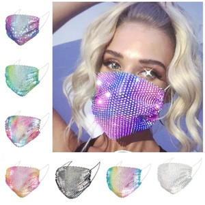 And Sequin Mask New T3I5916 Mask Dustproof Mesh Windproof Reusable Face Permeable Color Bar Party Air Jlotj