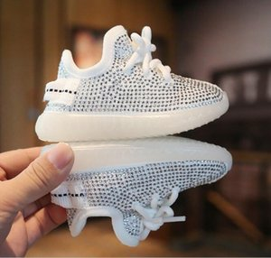 Printemps / Automne bébé garçon tout-petits Chaussures pour bébé strass Chaussures de sport Chaussures de coco douce confortable Kid WY1505