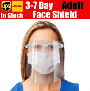 New Face Shield Glasses Reusable Goggle Faceshield Visor Transparent Anti-Fog Layer Protect Eyes from Splash full face shield mask