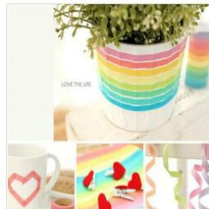 2016 2016 Lavaport Rainbow Washi Sticky Tape Colorful Masking Adhesive Paper Scrapbooking Lavaport Rainbow Washi Sticky Tape hairclipperssho