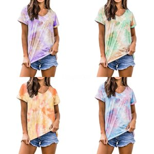 K Letter Womens Tshirts Summer Crew Neck RIP Casual Womens Designer T Shirts Short Sleeve Straight Loose Solid Color Tops#195
