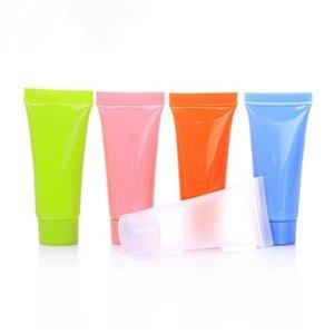 Повторное использование крем пластиковые бутылки Удобная поездка бутылочку Cleanser Крем для рук бутылки 5ML 10ML Оптовая партия подарков DHC286