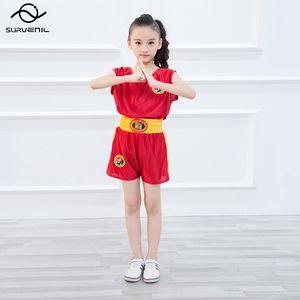 Бокс костюм для детей Кикбоксинг Муай Тай Шорты + рубашка Set Мужчины Женщины Санда Обучение кунгфу боевых искусств Одежда форменная