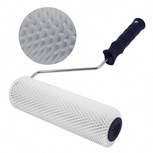 Professional Tool Brush Paint Cement Roller Portable Spiked Bubble Remove Practical Self Leveling 13mm Teeth Height Durable T3wJ#