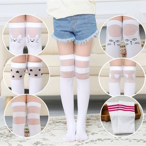 Spring and summer children's knee socks girl cartoon high tube white socks a variety of styles are available
