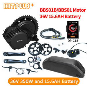 Pil Orta Sürücü 350W Elektrikli Çin ile Bafang 8Fun BBS01 36V350W e-bisiklet Motorlu E Bike Dönüşüm Kiti