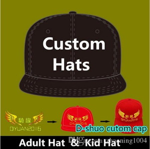Logo Custom Baseball Caps Hip Hop Snapback Erwachsene Kinder Größe Stickerei-Druck-Logo ausgestattet Voll komplett geschlossen Hutfabrik
