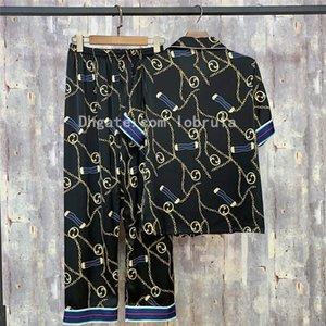 Retro Geometric Pattern Pajama Set Summer V-neck Shorts Home Set High Quality Women's Wear Women's Sleepwear Home Wear