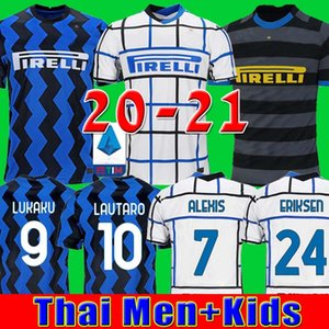2020 2021 ERIKSEN LUKAKU وتارو انتر ميلان المنزل بعيدا كرة القدم بالقميص BARELLA 19 20 21 لكرة القدم أعلى قميص رجل أطقم أطفال مجموعات موحدة