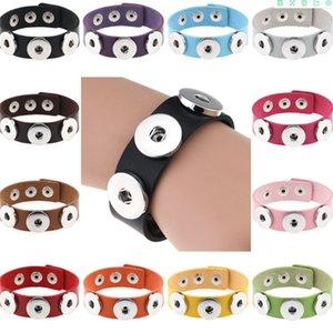 Charm Bracelets Silver Snap Fit DIY Snaps Buttons jewelry 18mm Cheap Knot Ginger Snap Jewelry Leather Bracelets