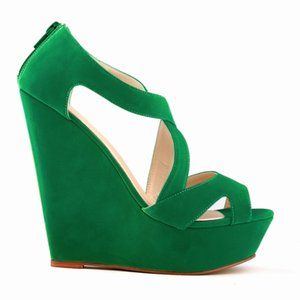 Summer Green Beach Sandales Wedge femmes boucle cheville plateforme Gladiator Chaussures Femme Chaussure Escarpin Sandales Mujer 2020