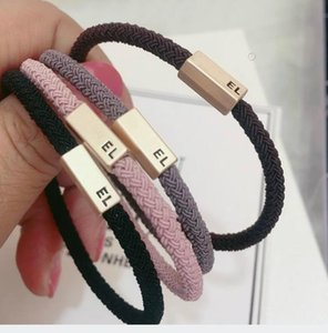 New High quality fashion mark hair rubber bands detachable double layer copper head rope stylish Hair ring for vip gift