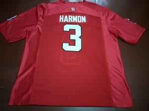 Hommes NC State Wolfpack Kelvin Harmon # 3 réelle borderie College Jersey Taille S-4XL ou sur mesure tout maillot de nom ou le numéro