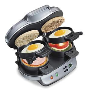 Nuovo 2020 La perfetta doppia colazione Manuale hamburger Sandwich Maker