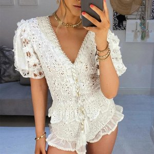 2020 New Summer Women 2 Pieces Sets Ruffled Blouse Top and Shorts 2 Piece Outfits for Women Holiday Sets