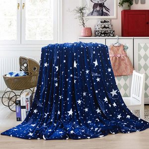 Bright Stars Bedspread Blanket High Density Super Soft Flannel Blanket To On For The Sofa bed car Portable Plaids #YJ
