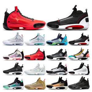 retro 34 New arrival XXXIV Mens basketball shoes 34 jumpman BAYOU BOYS Black Cat Blue Void Crispy INFRARED Red Orbit sports sneakers trainers fashion