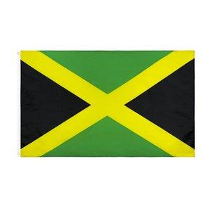 3x5ft bandera de Jamaica País Banderas Nacionales impresión a doble cara de poliéster 90 * 150cm de la bandera de Jamaica envío libre HHA1502