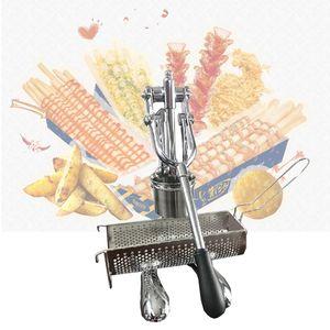 Manuale di stampa patate fritte Chip delle patate fritte Cutter Dispenser Super Long Patatine fritte Makers macchine lunghe macchina della patata
