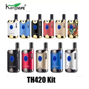 Authentic Kangvape TH420 II Starter Kit With 650 mAh Battery TH-420 2 Vape Box Mod For Thick Oil Cartridge Atomizer 100% Original cases2010