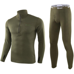الشتاء الحراري الملابس الداخلية مجموعات تمتد تنفس الحرارية الصوف قميص تكتيكا المشي لمسافات طويلة التخييم التزلج الملابس الداخلية الملابس