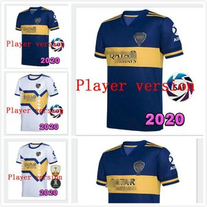 Player version 20 21 Boca Juniors maillots de foot soccer jersey SALVIO TEVEZ DE ROSSI 20-21 home away football Player shirt