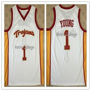 1. Nick Young USC Trojans Retro College Basketball Jersey Tüm Boyut Dikişli Dikişli özelleştirme herhangi bir ad ve Formalar NCAA yelek XS-6XL isim