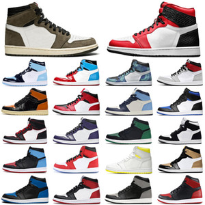 1 1s Travis Scott Jumpman Basketball Shoes Men Women Bloodline Fearless Mens 트레이너 스니커즈