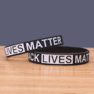 Wholesale Fast Shipping Black Lives Matter Wristband Silicone Bracelet Women Men Unisex Rubber Bracelets Wristband Bangles 200pcs In stock