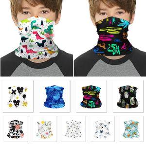 Moda exterior Children Cartoon Face Máscara Sports equitação Magia Headband máscara protetora Bandana do partido da máscara Suprimentos HH9-3143