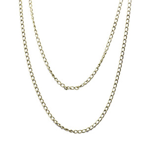 Bronze Silver Black Gold Sweater Chains Pocket Watch Necklace Chain