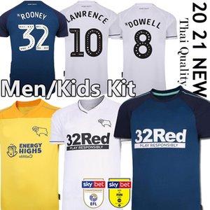 rooney 20 camisetas de fútbol 21 Derby County distancia 2019 2020 Camisetas de Fútbol MARRIOTT LAWRENCE Waghorn kit hombres + niños camisetas de fútbol
