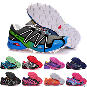 Speed cross 3 CS III Running shoes Black Silver red Pink blue men Outdoor SpeedCross 3s Hiking mens sports sneakers 36-45