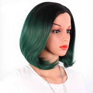Mode BOB Blond Farbe Frauen-Haar Perücke kurz gerade synthteic Hochtemperatur Perücke