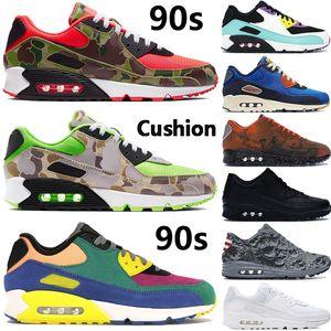 I nuovi mens di arrivo 90s Sneakers inverso anatra camo Lucid gioco verde reale UNDFTD solare nero rosso delle donne degli uomini cuscino moda scarpe da corsa