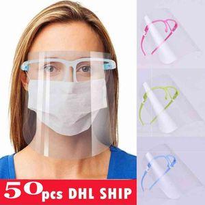 US Stock Fast sicurezza Visiera Occhiali riutilizzabile Goggle faccia scudo visiera trasparente Anti-Fog Strato proteggere gli occhi da Splash