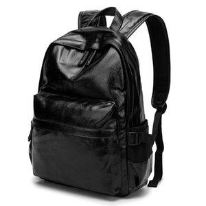 Zaino degli uomini sacchetto di scuola Nero Fashion PU Rosso / Nuovo stile studente zaino per le donne Mochila Escolar Schoolbag Mochila Feminina bz