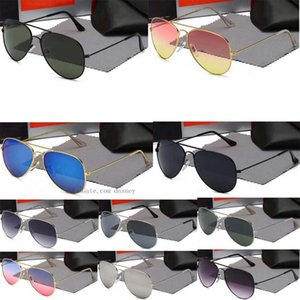 con la caja 3025 de los hombres gafas de sol de aviador piloto de la vendimia Marca Gafas de sol polarizadas Banda UV400 gafas de sol Wayfarer de las mujeres 2019 # 2 C7zv