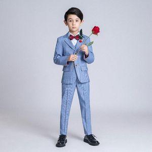 YuanLu Kids Suit For Boy Blazer Shirt Vest Pants Formal Suit For Wedding Party Costume British Style Gentleman Clothes 7RtX#