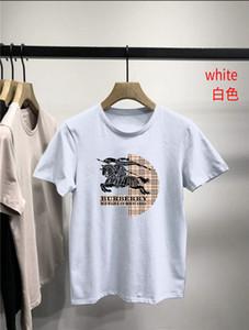 Manga curta T-shirt Verão New lapela Masculino shirt dos homens Burberry Cotton Tops mens designer de tracksuits Burburry