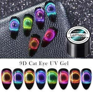 Gel Eye Lemooc Cat 9D jogo do polonês Magnetic UV Gel Verniz com vara Preto base precisam Mergulhe Lacas Off UV