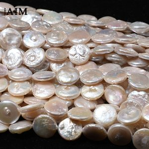 Baroque natural light water pearl beads button round diy Diy Button earrings handmade accessories earrings necklace material