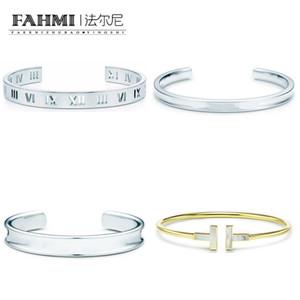 El numeral pulsera de plata a cielo abierto del fahmi 925 romana original de la joyería de regalo de las mujeres