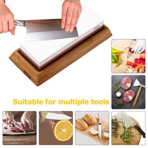 High-quality fine whetstone kitchen knife double-sided whetstone with base